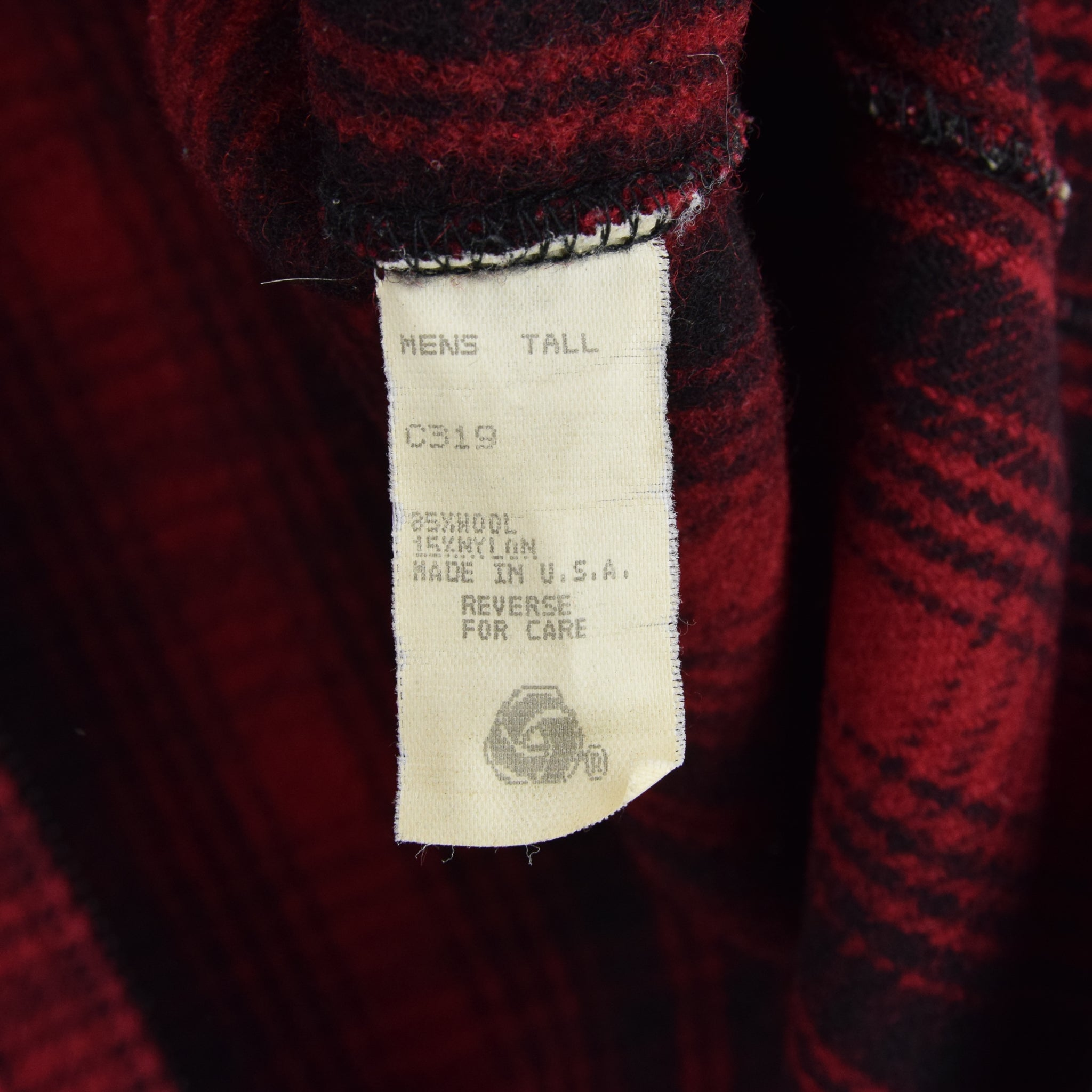 Vintage LL Bean Buffalo Plaid Wool Hunting Waistcoat Vest Made in USA L / XL label