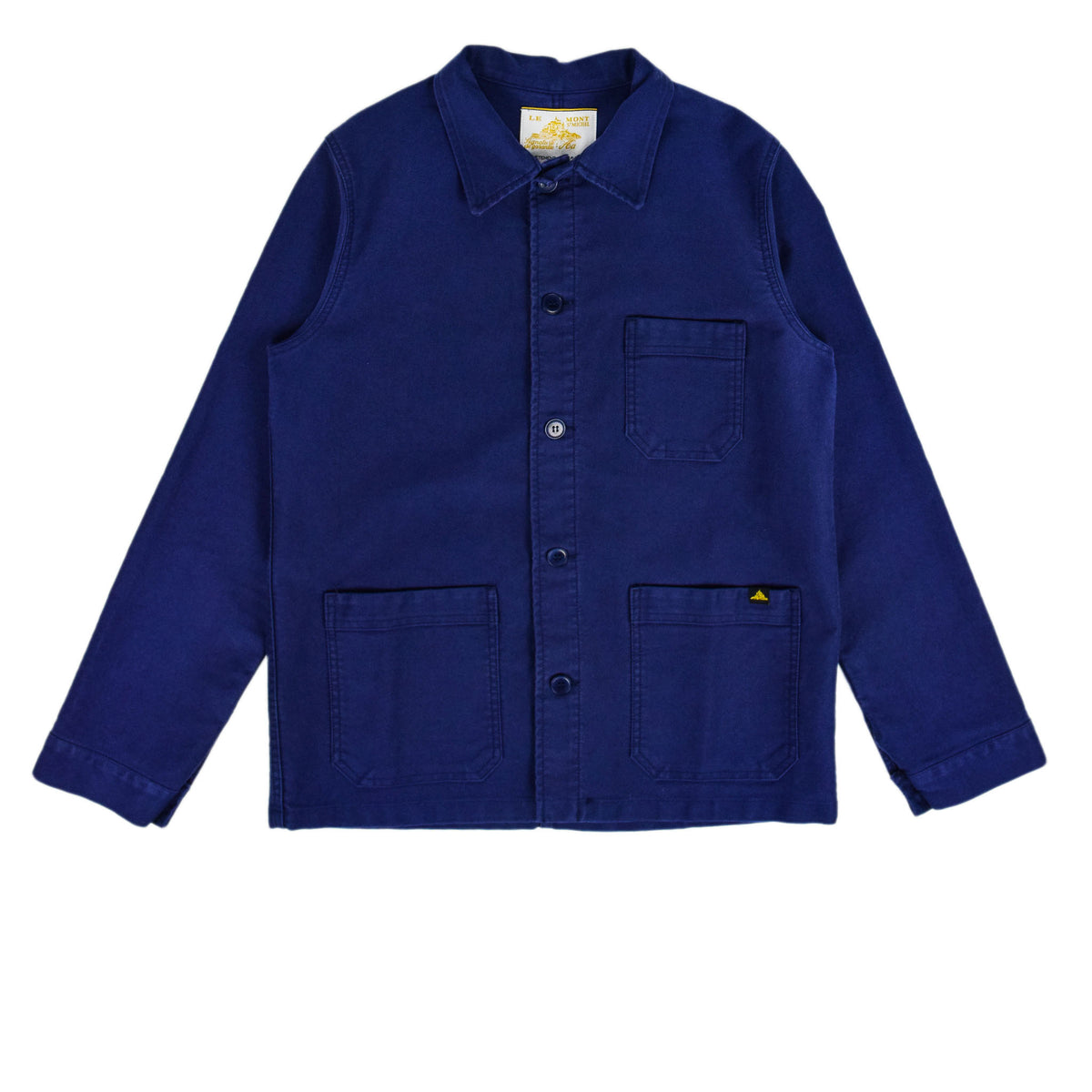 Le Mont St Michel Genuine Moleskin Work Jacket Blue Front