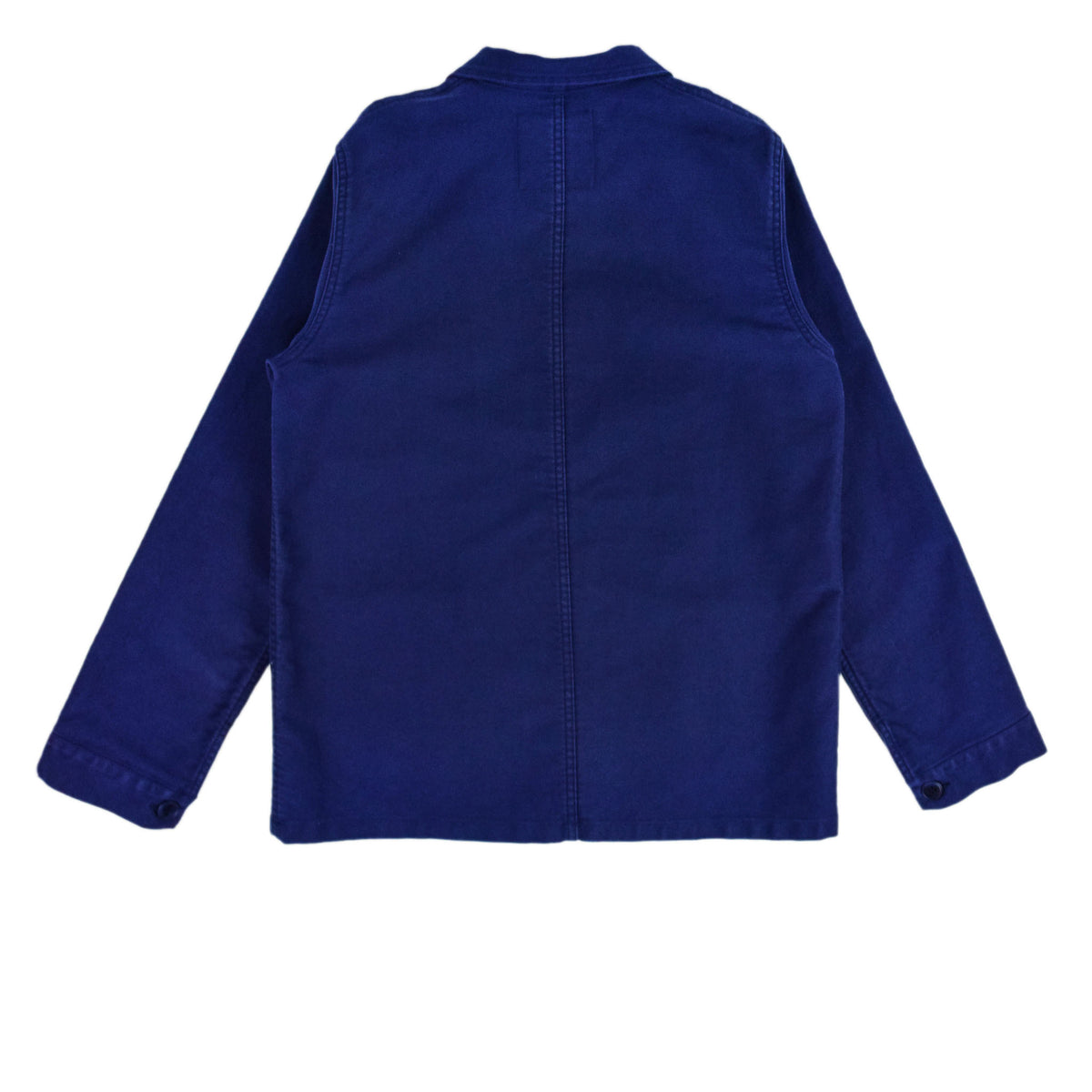 Le Mont St Michel Genuine Moleskin Work Jacket Blue Back