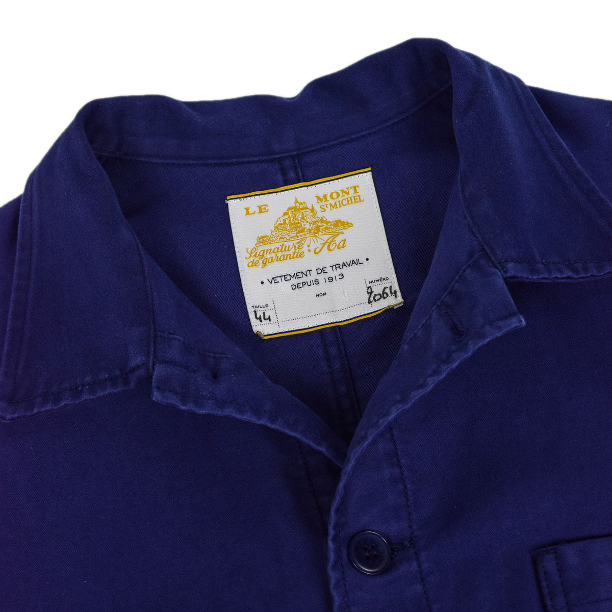 Le Mont St Michel Genuine Moleskin Work Jacket Blue Collar