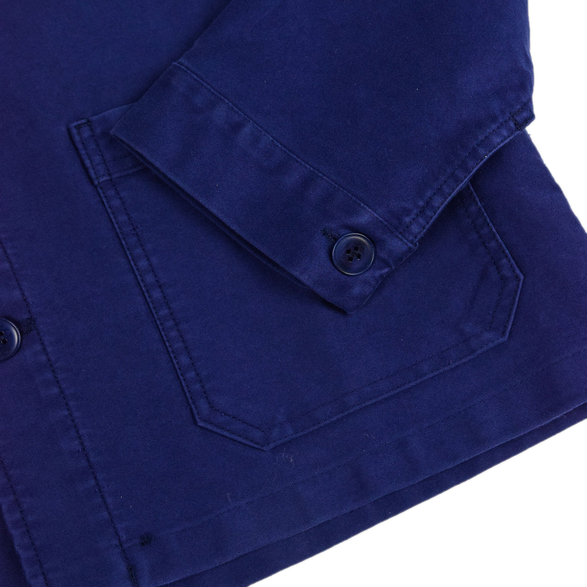 Le Mont St Michel Genuine Moleskin Work Jacket Blue Cuff