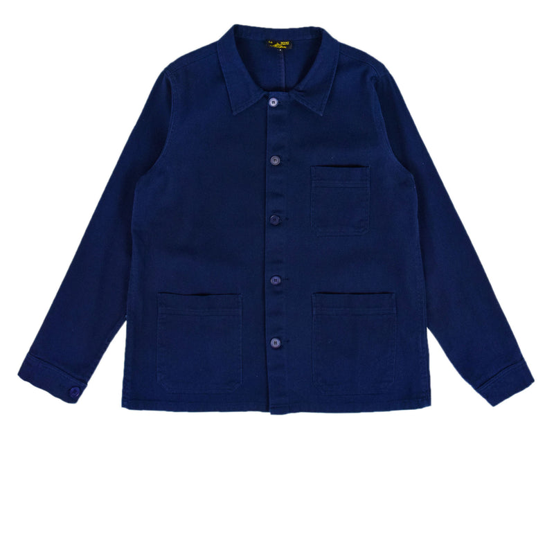 Le Mont St Michel Light Twill Work Jacket Navy Front