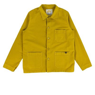 Le Mont St Michel Genuine Moleskin Work Jacket Citrus Front