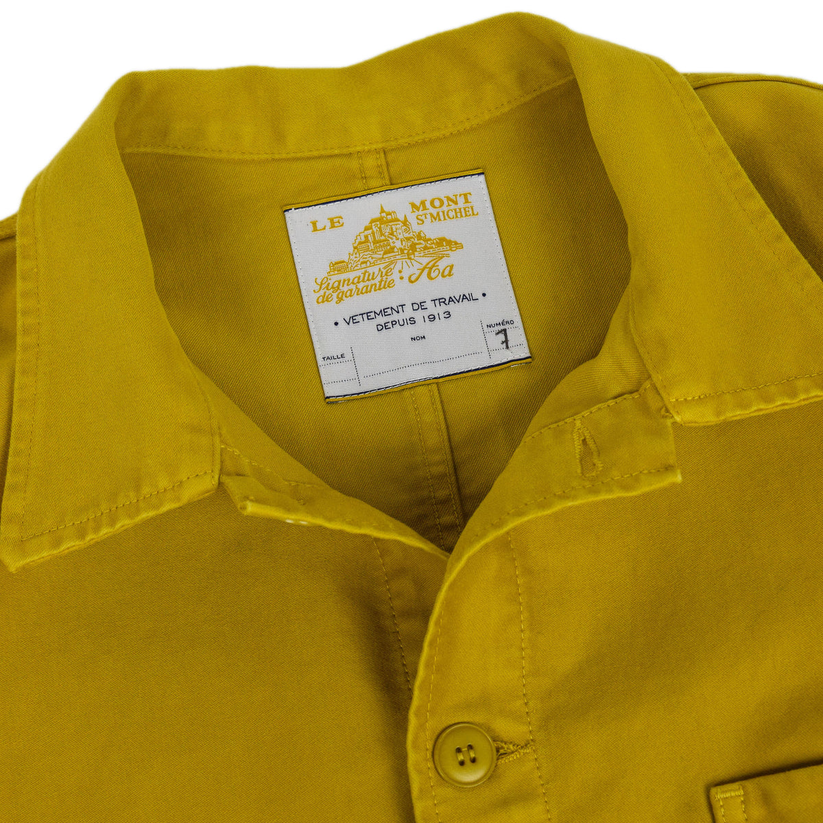 Le Mont St Michel Genuine Moleskin Work Jacket Citrus Collar
