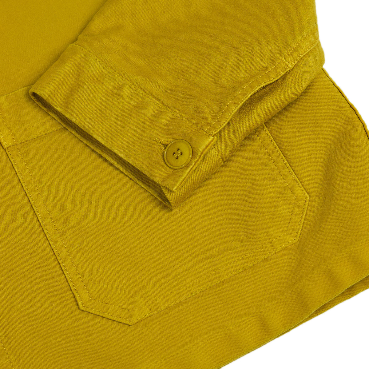 Le Mont St Michel Genuine Moleskin Work Jacket Citrus Cuff