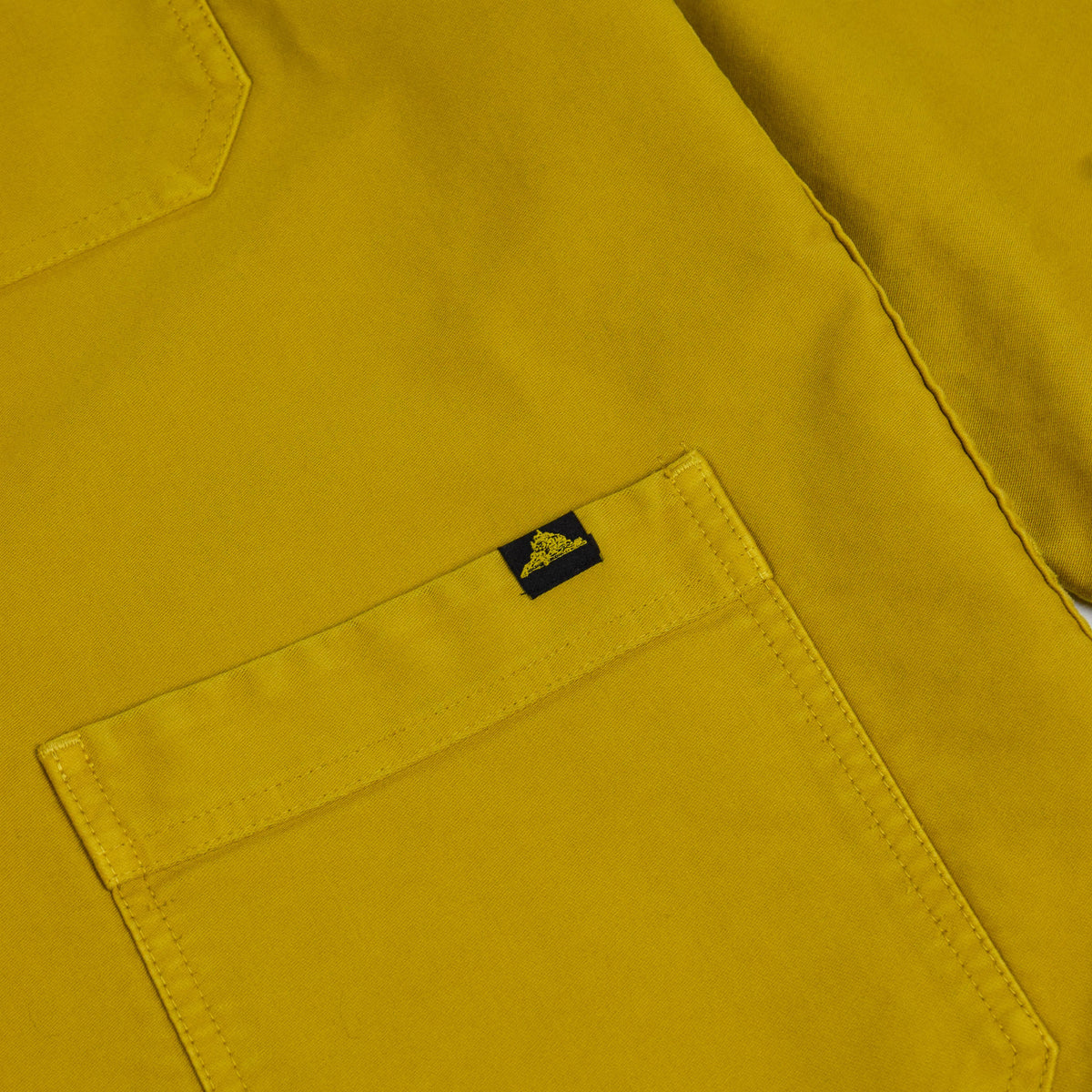 Le Mont St Michel Genuine Moleskin Work Jacket Citrus Lower Pocket
