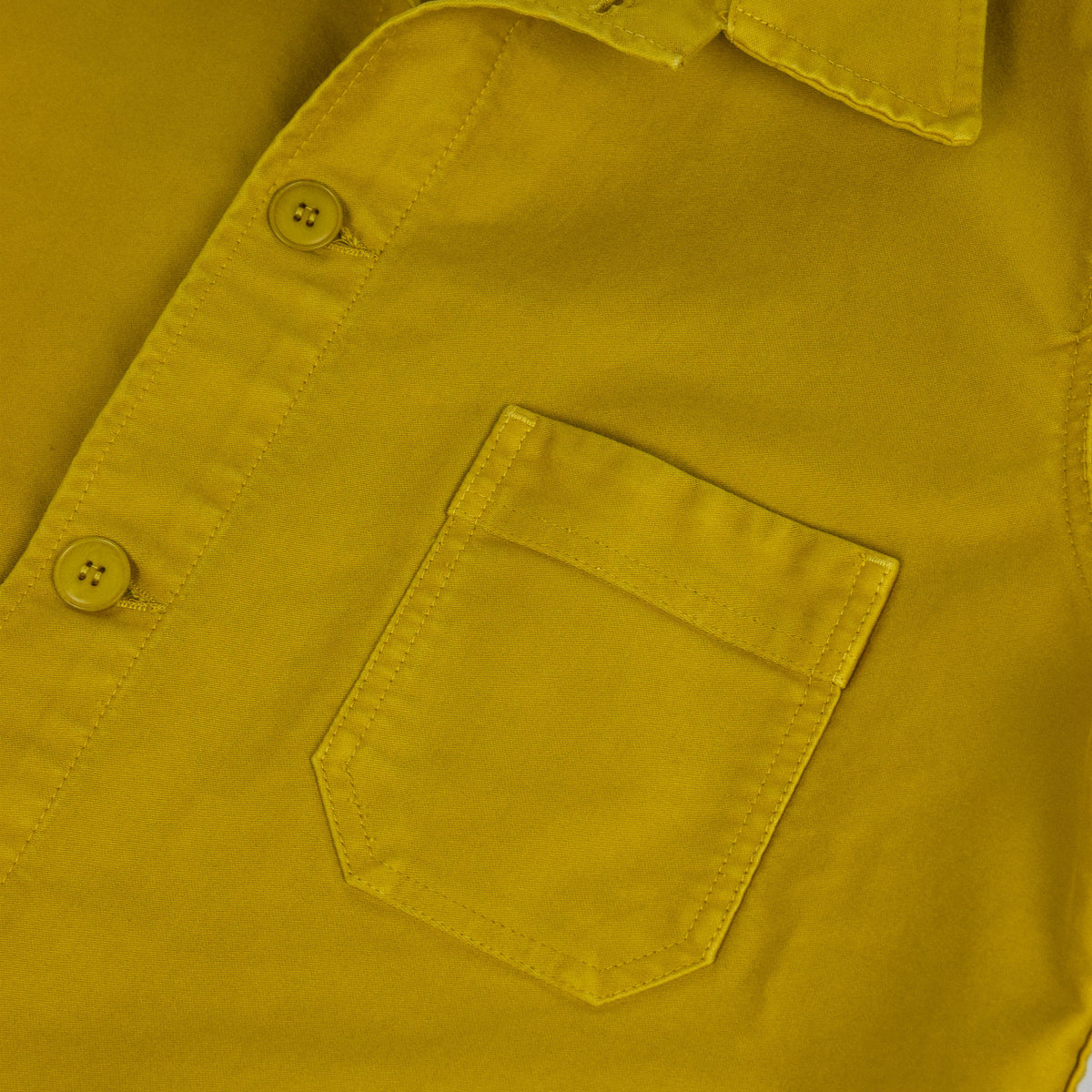 Le Mont St Michel Genuine Moleskin Work Jacket Citrus Pocket