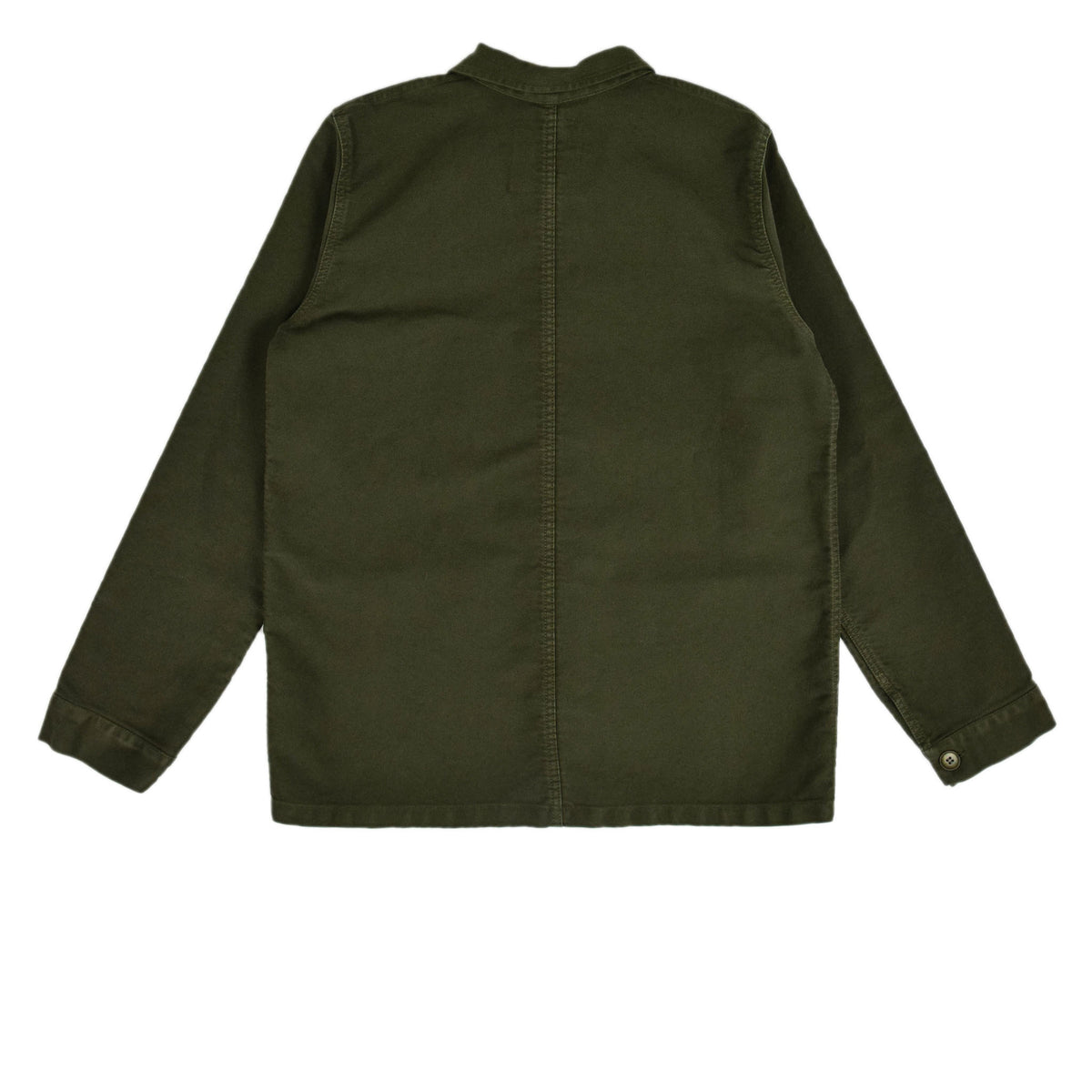 Le Mont St Michel Genuine Moleskin Work Jacket Kaki Back