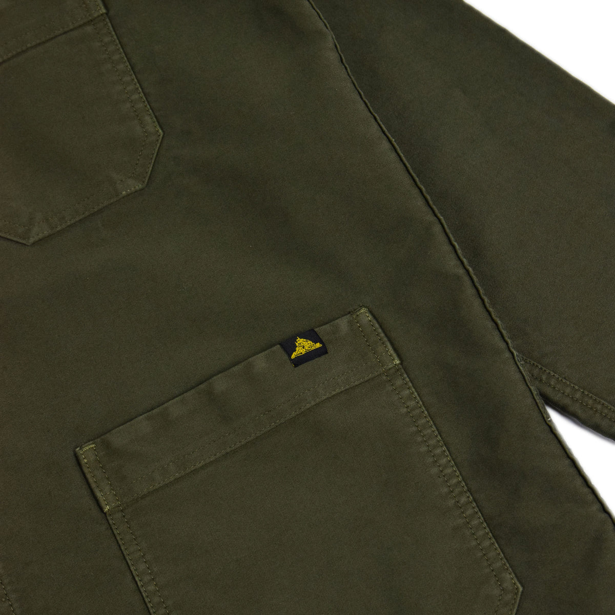 Le Mont St Michel Genuine Moleskin Work Jacket Kaki Lower Pocket