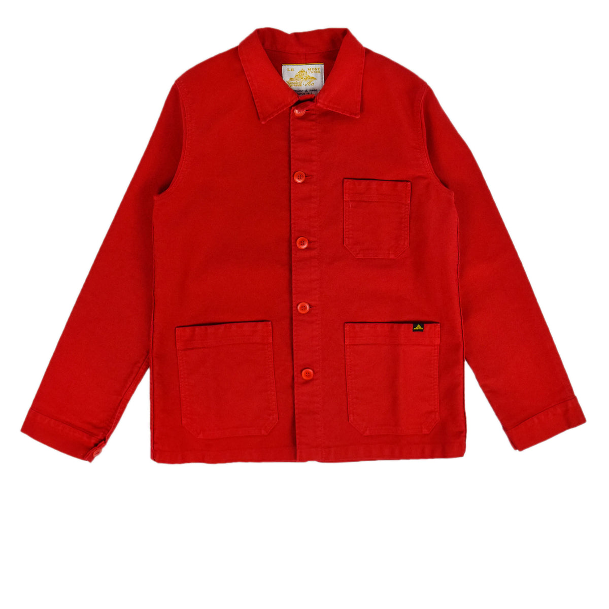 Le Mont St Michel Genuine Moleskin Work Jacket Red Front