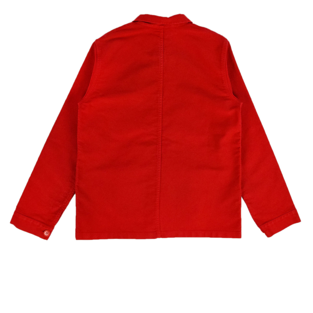 Le Mont St Michel Genuine Moleskin Work Jacket Red Back