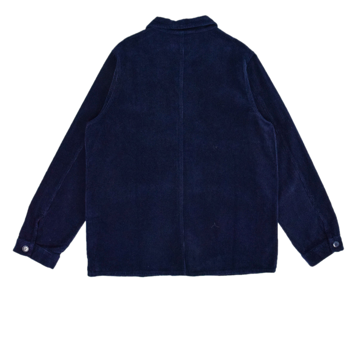 Le Mont St Michel Corduroy Work Jacket Indigo Blue Back