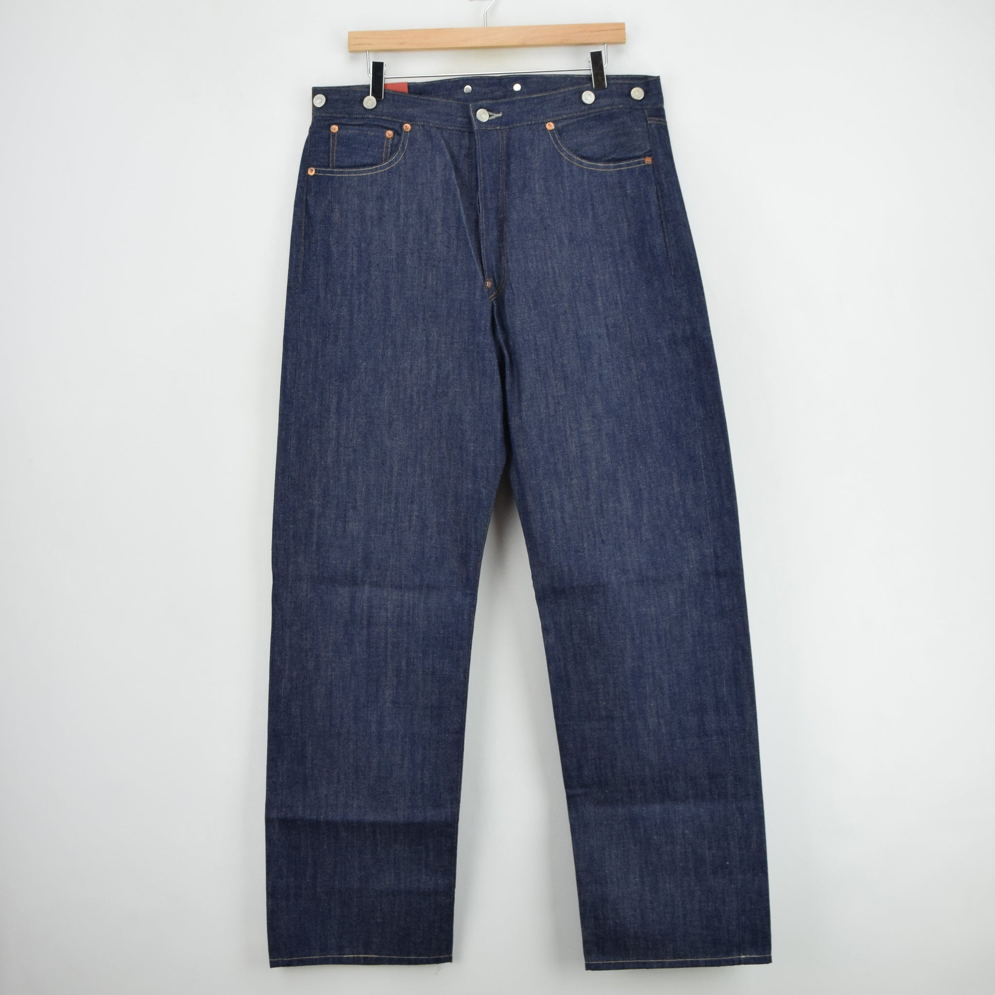 LVC Levi's Vintage Clothing 501 xx 1915 Shrink to Fit Selvedge Jeans 34 W 32 L front