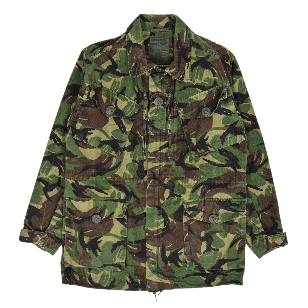 Vintage British Army Combat 95 Woodland Camouflage Coat Field Jacket M front