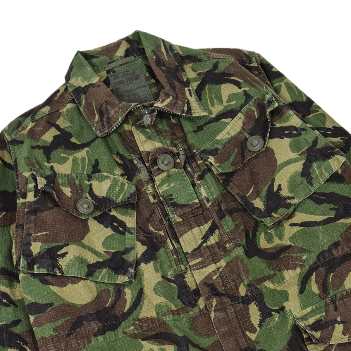 Vintage British Army Combat 95 Woodland Camouflage Coat Field Jacket M chest