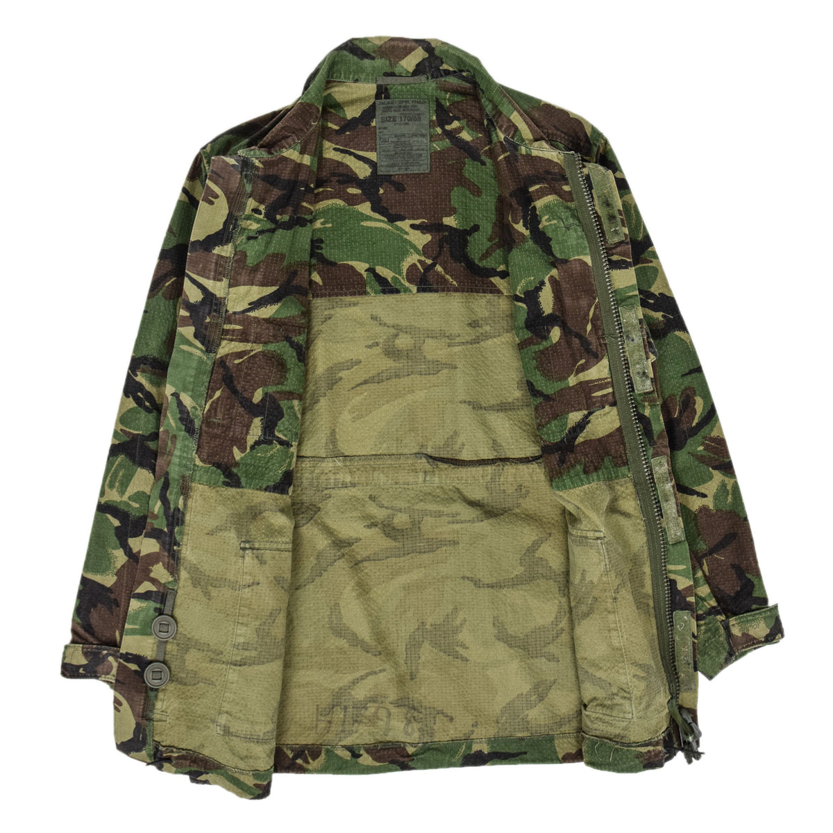 Vintage British Army Combat 95 Woodland Camouflage Coat Field Jacket M internal