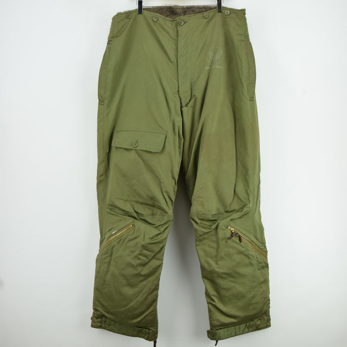 Rare Vintage 1940s WWII USAAF A-9 Alpaca Lined Flight Pant Trousers 38 FRONT