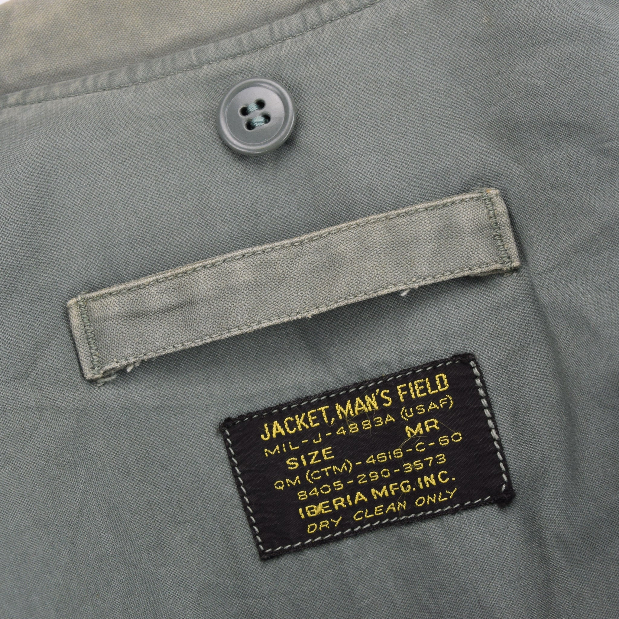 Vintage 60s Vietnam War US Air Force Field Jacket Olive Green USAF M label