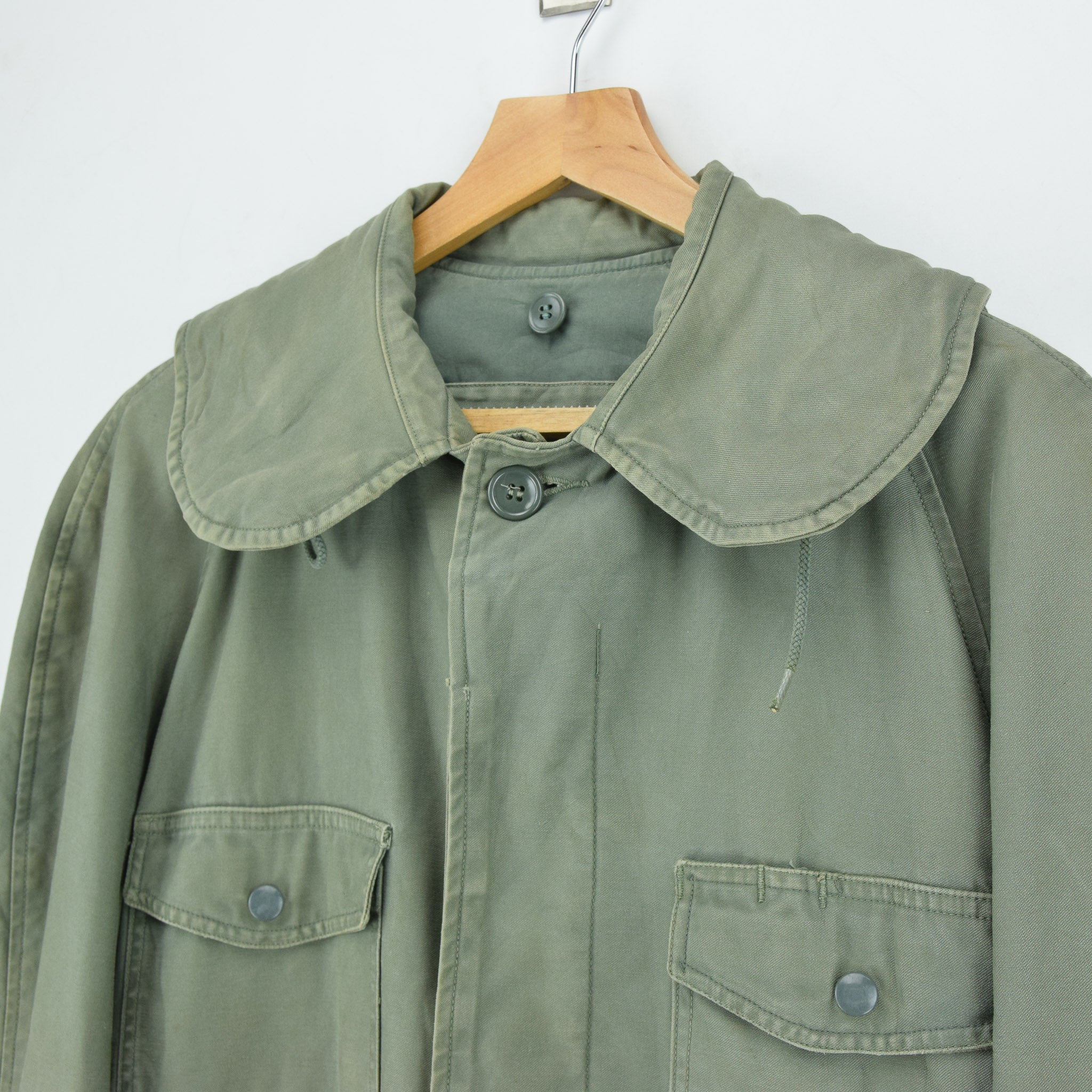 Vintage 60s Vietnam War US Air Force Field Jacket Olive Green USAF M chest