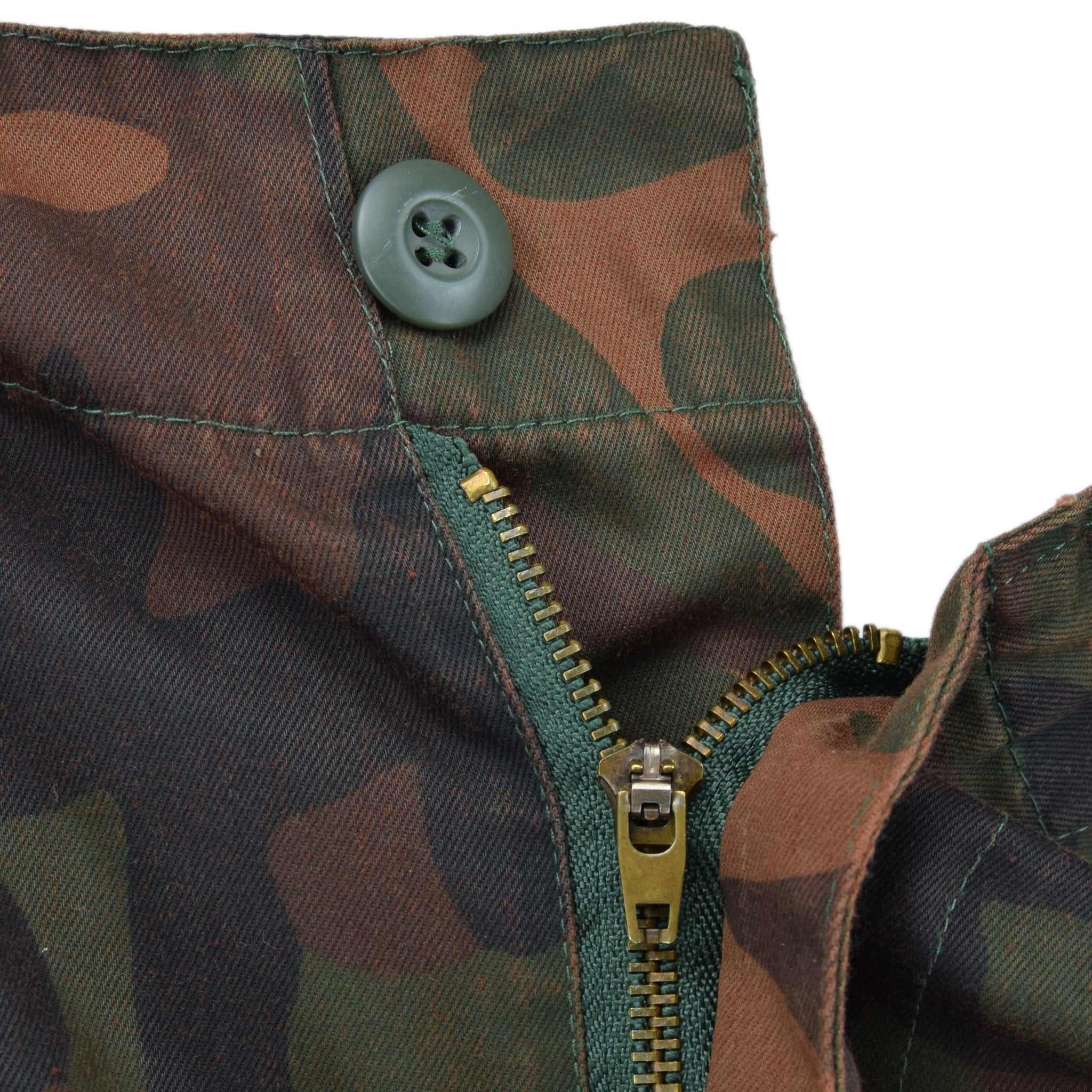 Vintage 80s USMC M-89 Survival Camo Military Combat Field Trousers 32 W fly front zip