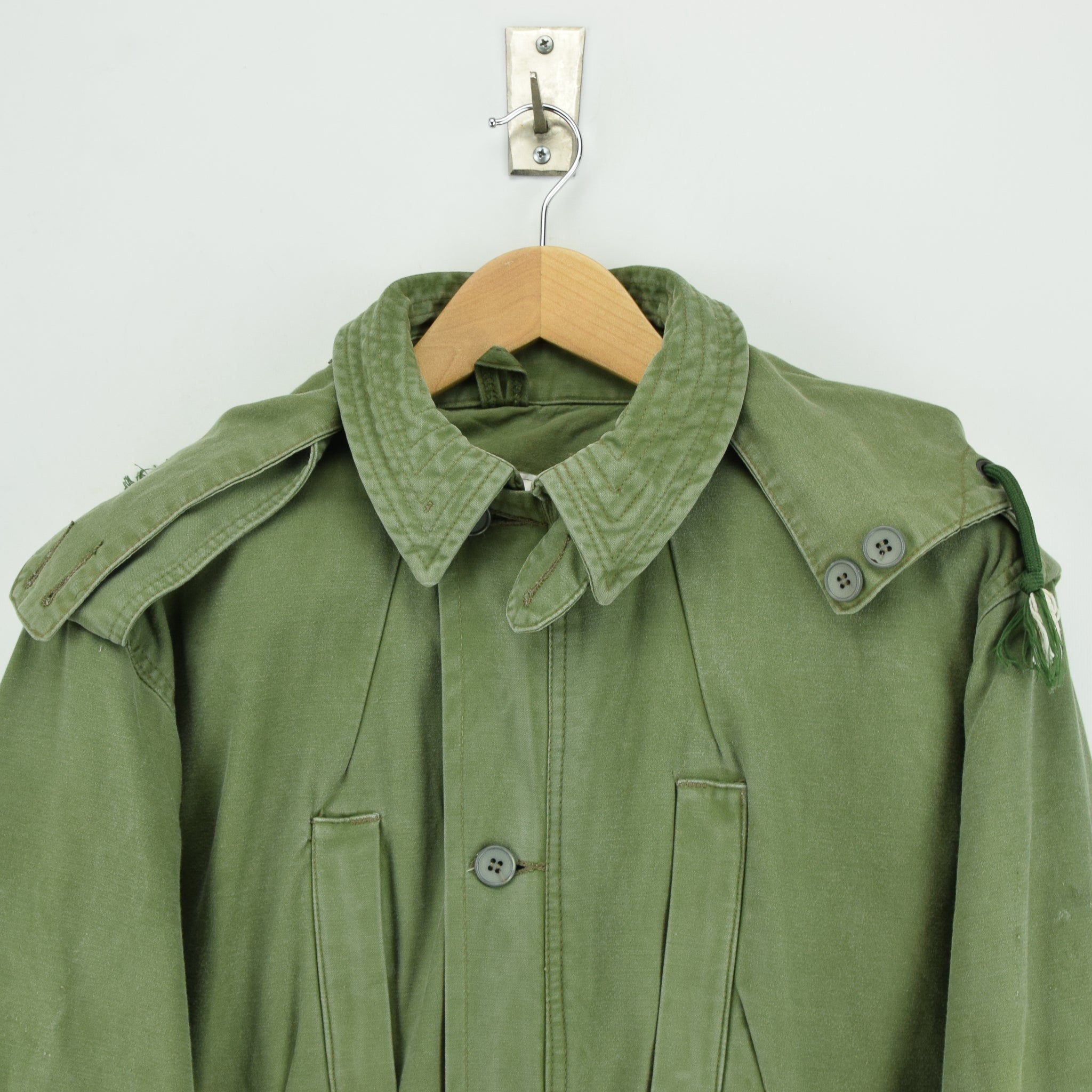 Vintage 90s Irish Army Combat Tunic Field Jacket Green Made in Ireland M chest