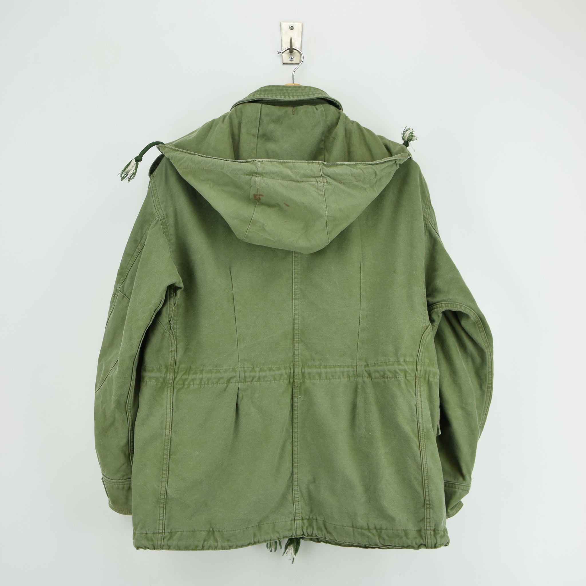 Vintage 90s Irish Army Combat Tunic Field Jacket Green Made in Ireland M back