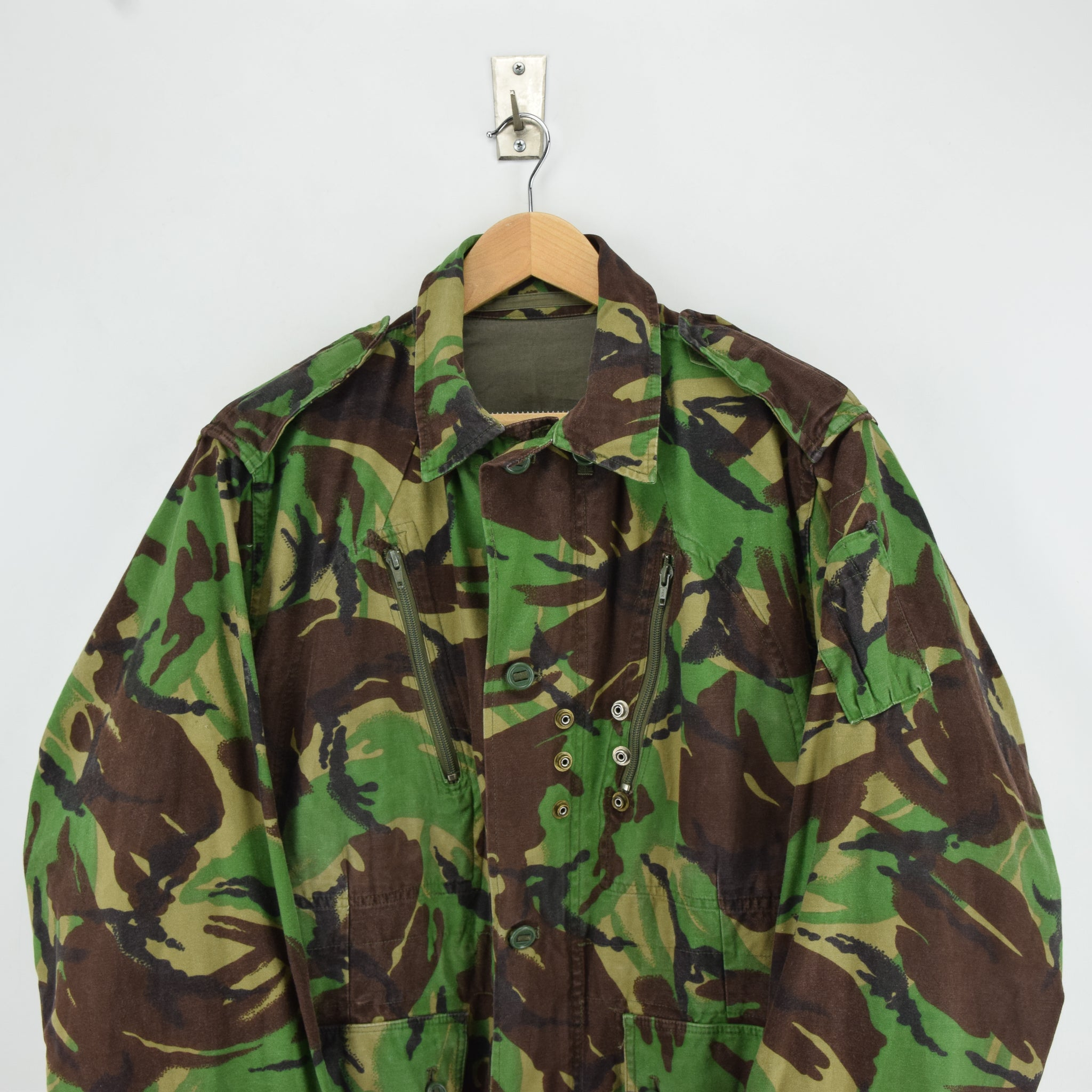 Vintage 80s British Aircrew RAF Combat Temperate MK 2 Camo Jacket M / L chest