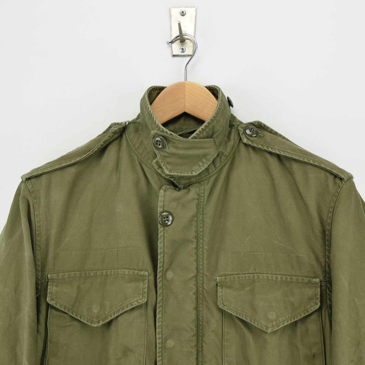Vintage 50s M-1951 Korean War US Army Field Jacket Olive Green Conmar Zip M chest