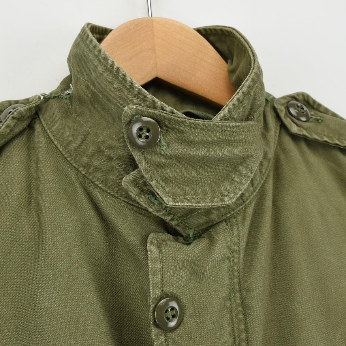 Vintage 50s M-1951 Korean War US Army Field Jacket Olive Green Conmar Zip M collar
