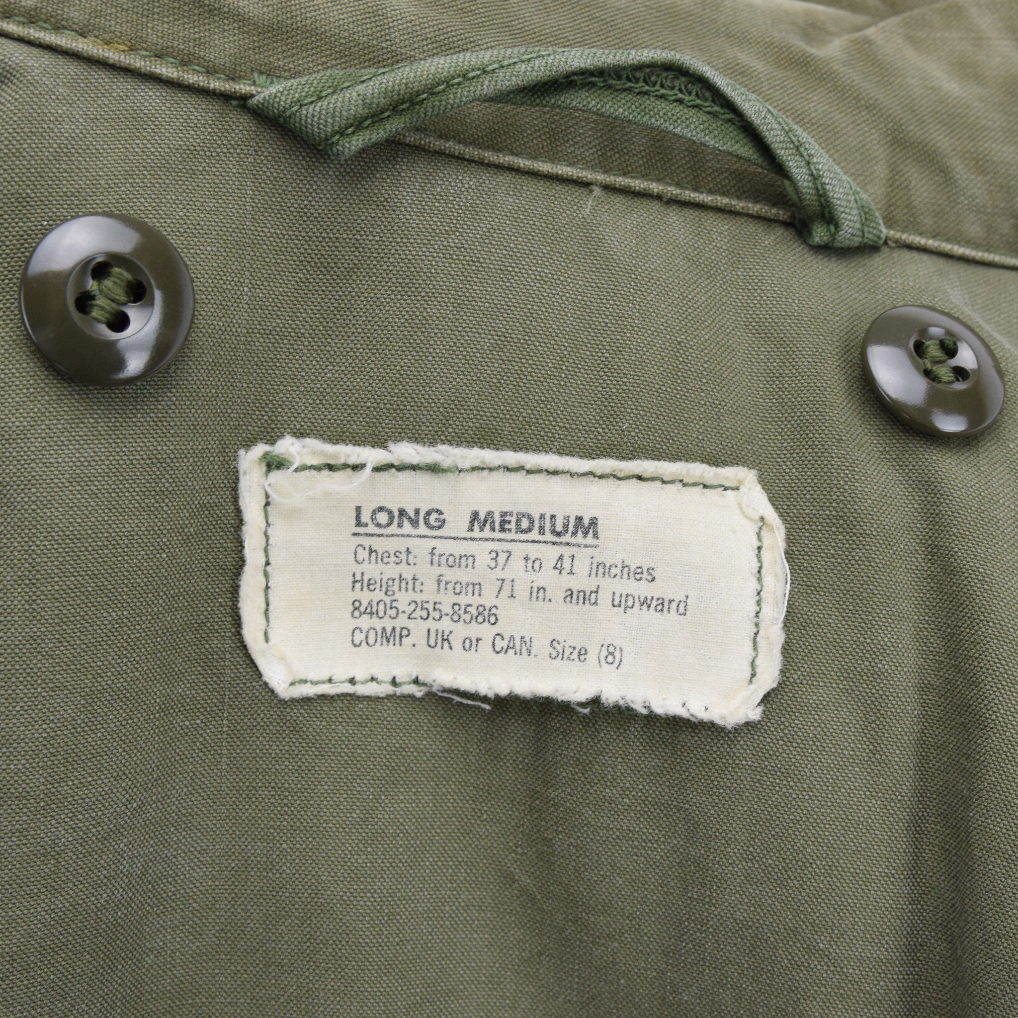 Vintage 50s M-1951 Korean War US Army Field Jacket Olive Green Conmar Zip M label