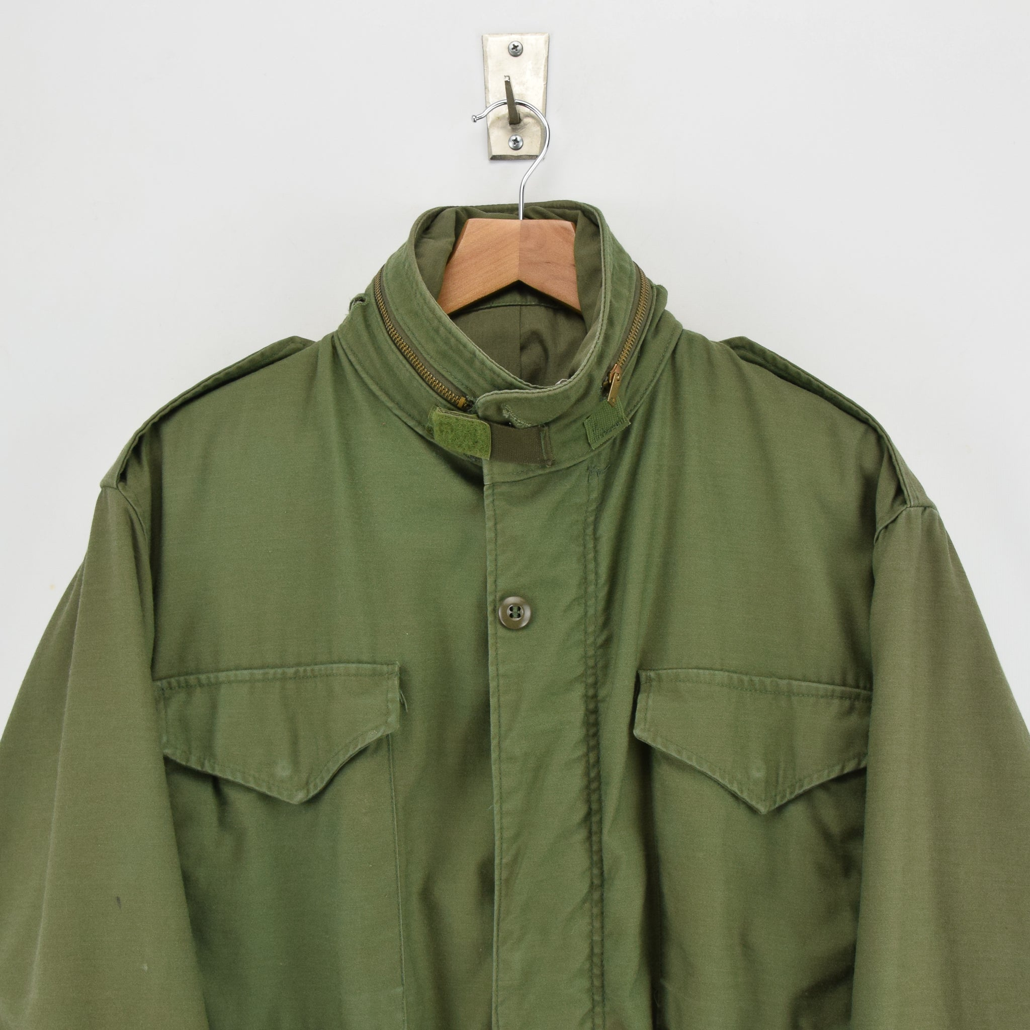 Vintage 80s M-65 Man's Cold Weather Field Military Army Jacket M Reg chest