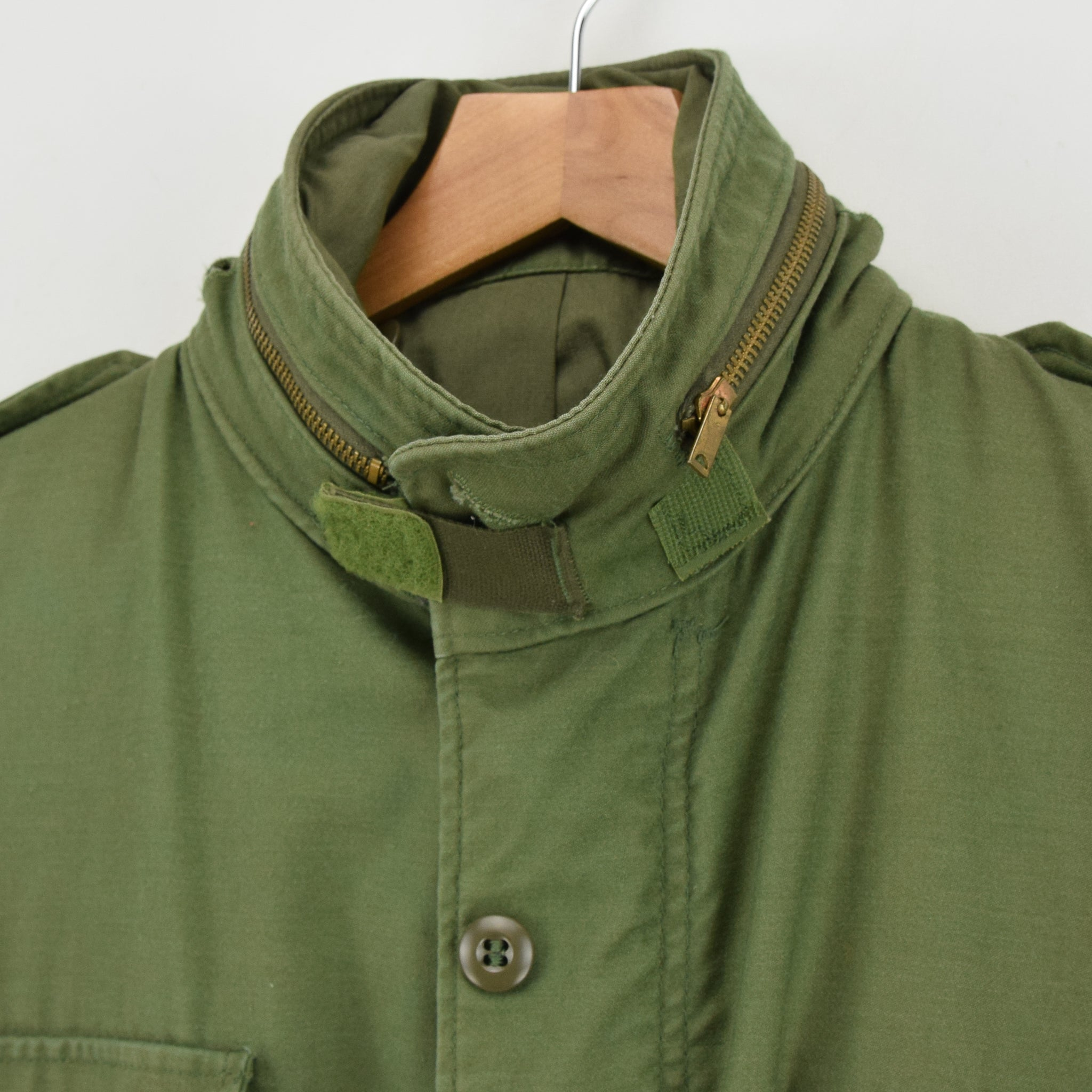 Vintage 80s M-65 Man's Cold Weather Field Military Army Jacket M Reg collar