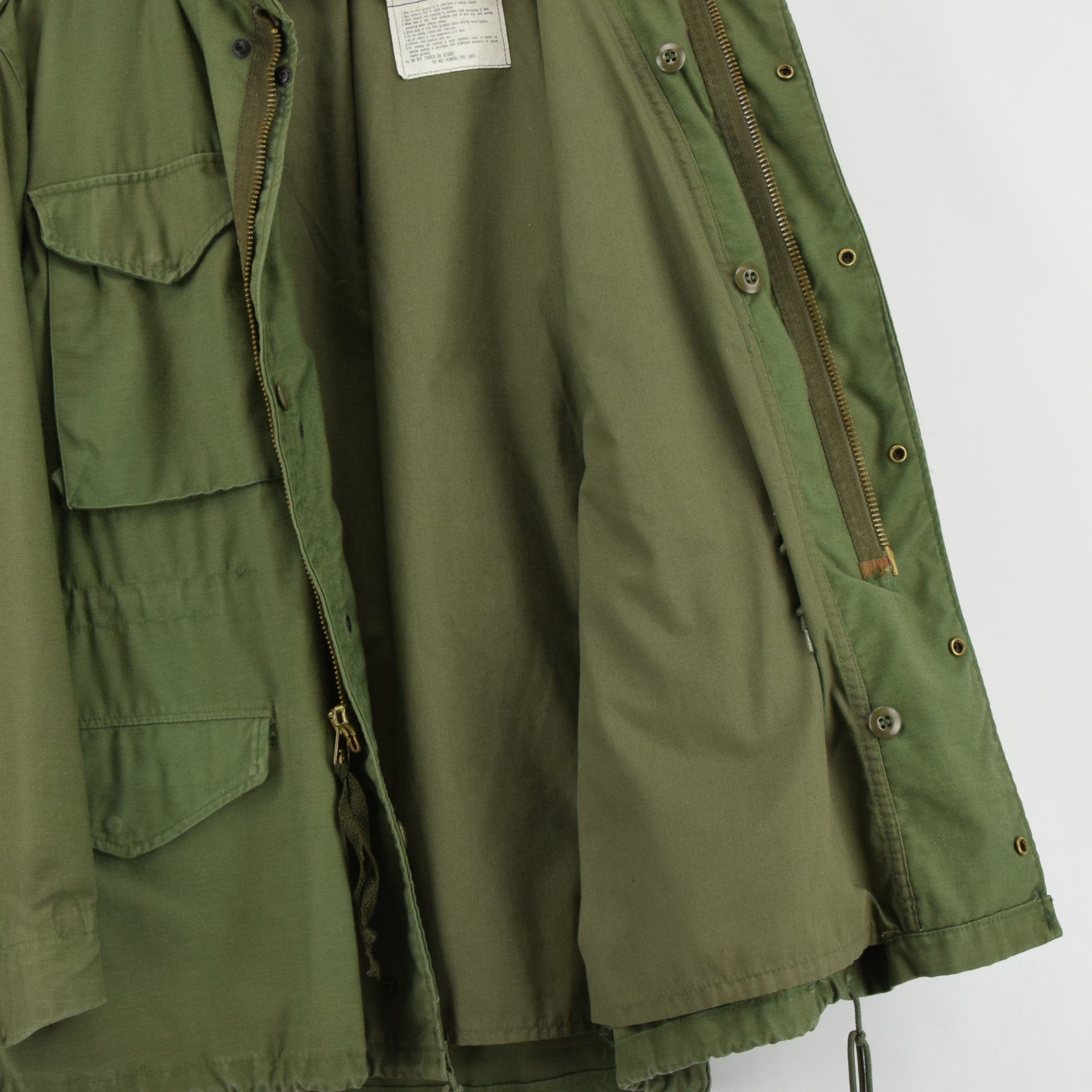 Vintage 80s M-65 Man's Cold Weather Field Military Army Jacket M Reg lining