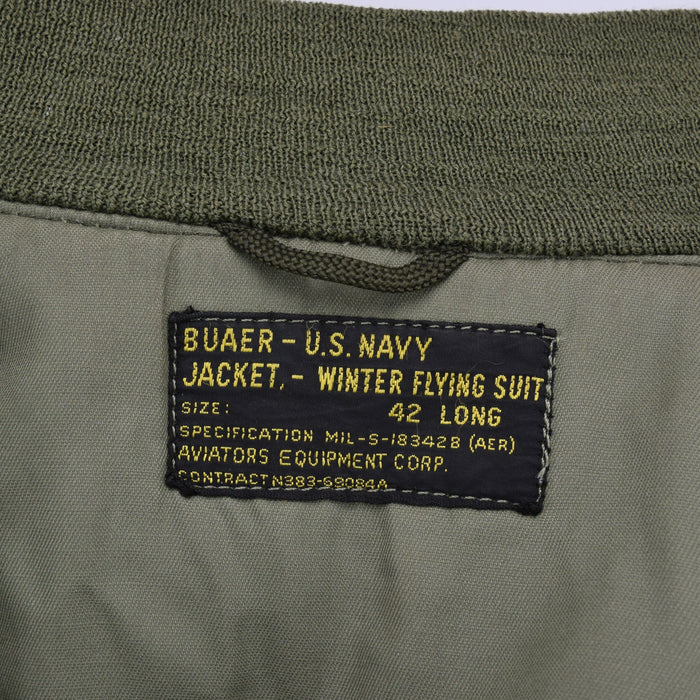 Vintage 1959/60 USN USMC Buaer Wep Vietnam Era Flight Jacket Conmar Zip M label