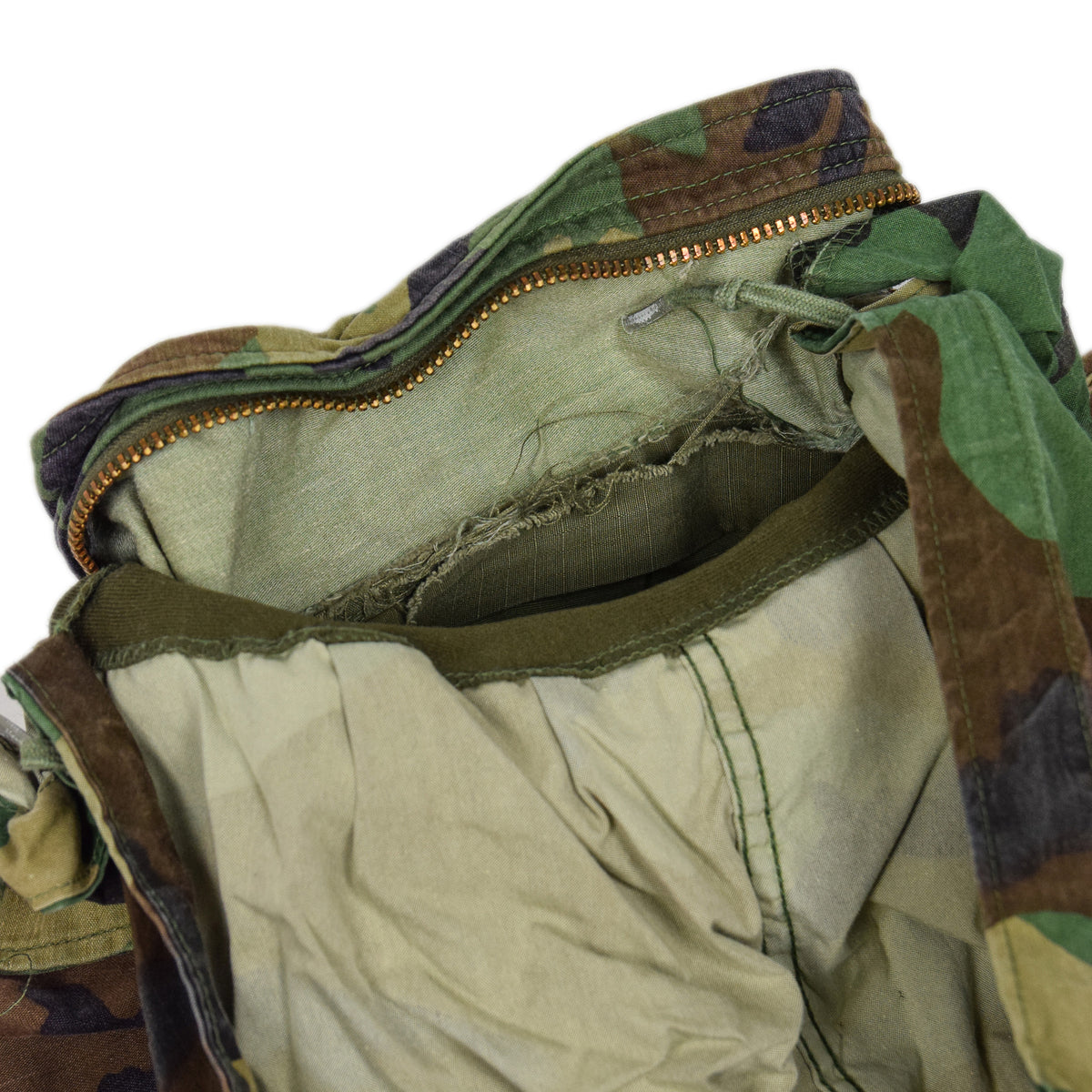 Vintage 80s US Army M-65 Woodland Camouflage Field Coat Military Jacket S Long label