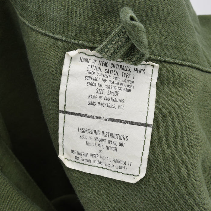 Vintage 80s USAF Overalls Flying US Air Force Utility Coverall Green Flight Suit L label