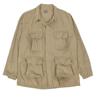 Civilian US Army Hot Weather Cotton Ripstop Combat Jacket XL Reg Tan front