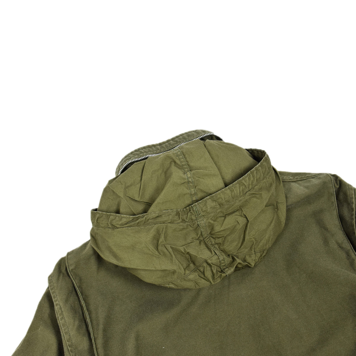 Vintage 60s Vietnam M-65 Man's Field Sateen 0G-107 Green US Army Coat M Short hood