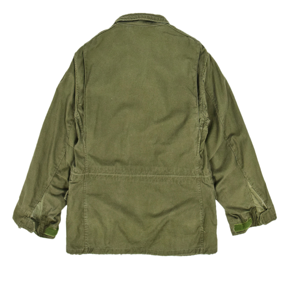 Vintage 60s Vietnam M-65 Man's Field Sateen 0G-107 Green US Army Coat M Short back