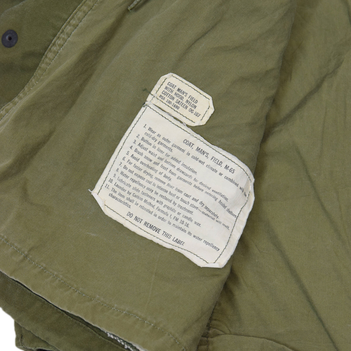 Vintage 1966 Vietnam 1st Pattern M-65 Man's Field 0G-107 US Army Coat M Short