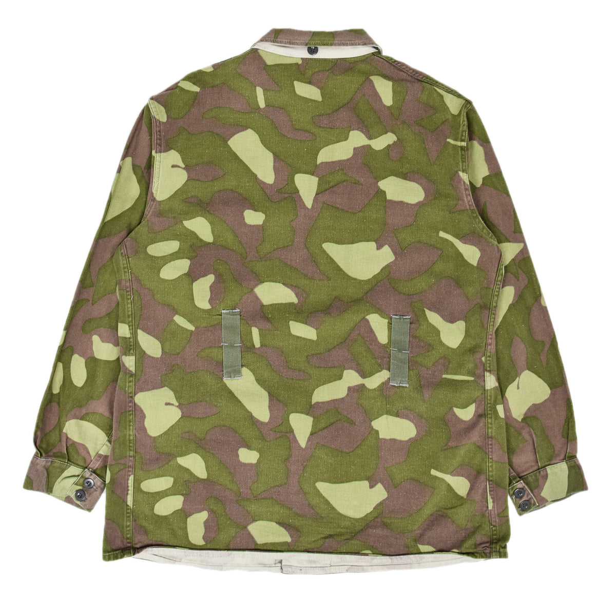Vintage 70s Military Finnish Army Green Camo Mountain Field Jacket XL back