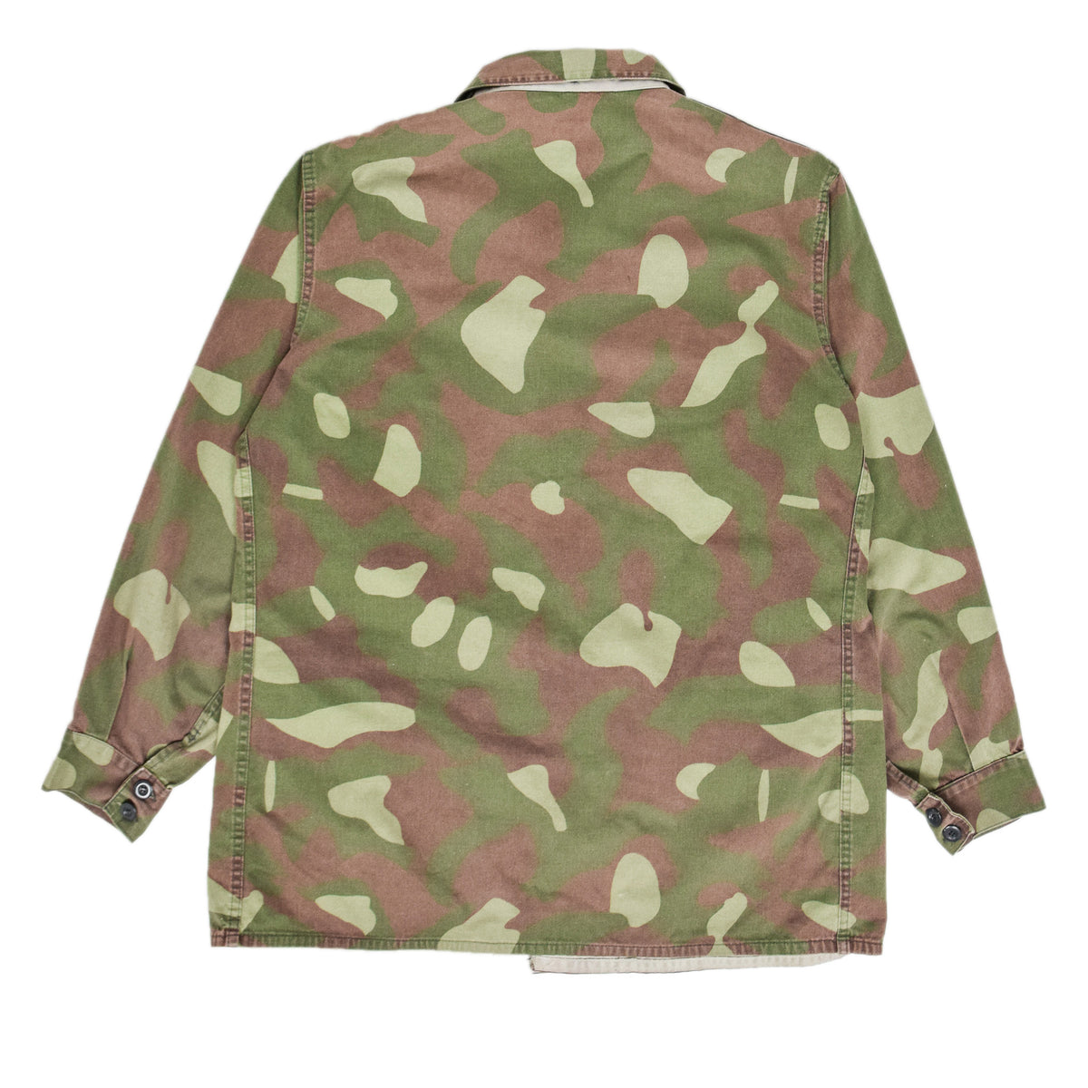 Vintage 80s Military Finnish Army Green Camo Mountain Field Jacket XL back