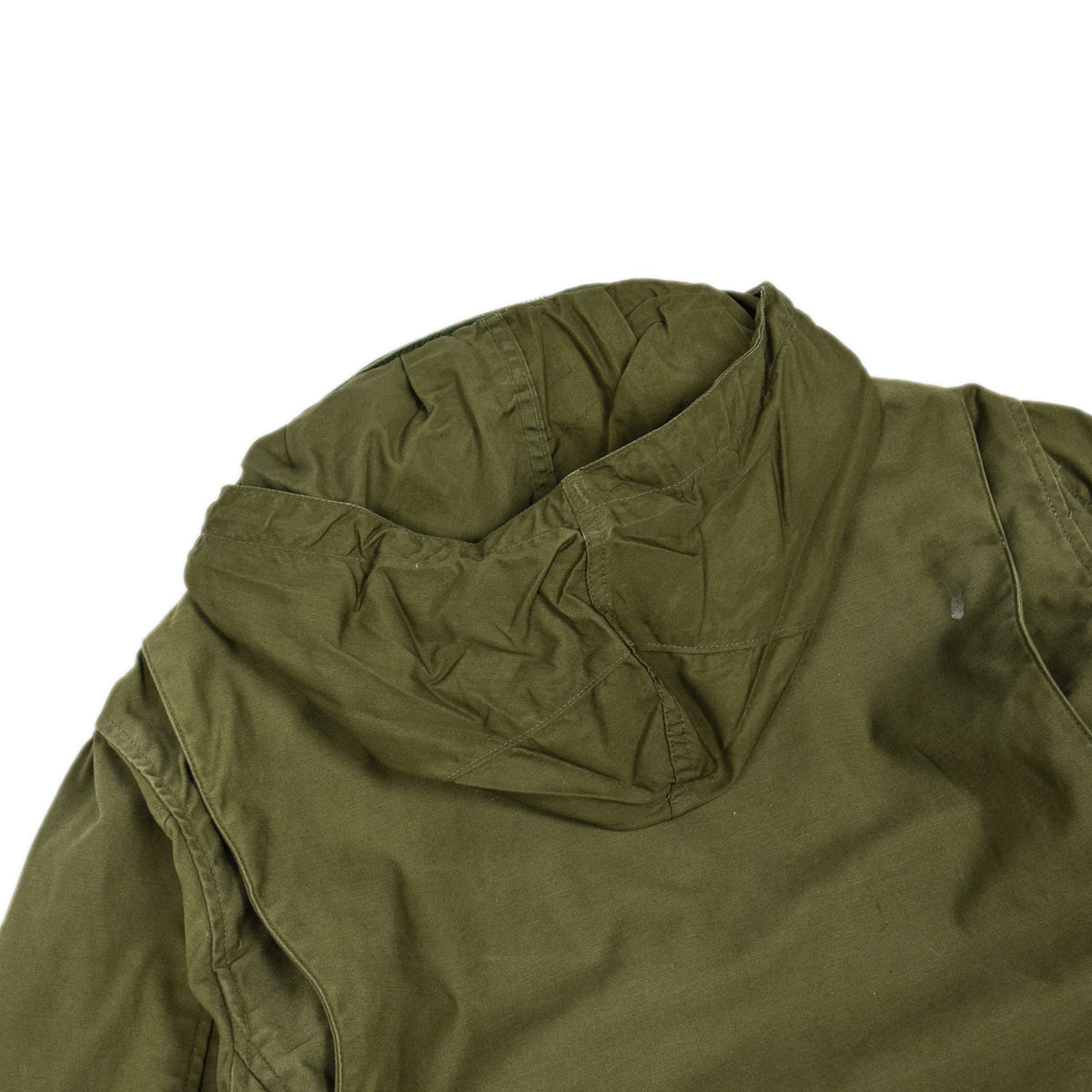 Vintage 60s Vietnam M-65 Man's Field Sateen 0G-107 Green US Army Coat S / M hood