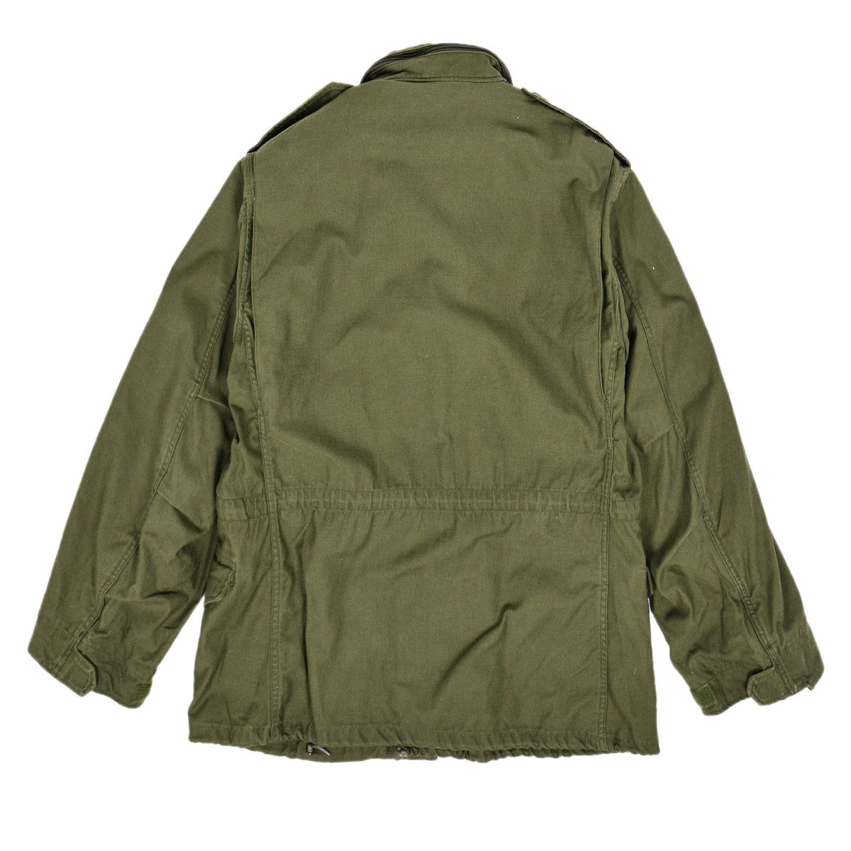 Vintage 80s M-65 Man's Field Cotton Sateen 0G-107 Green US Army Coat M back