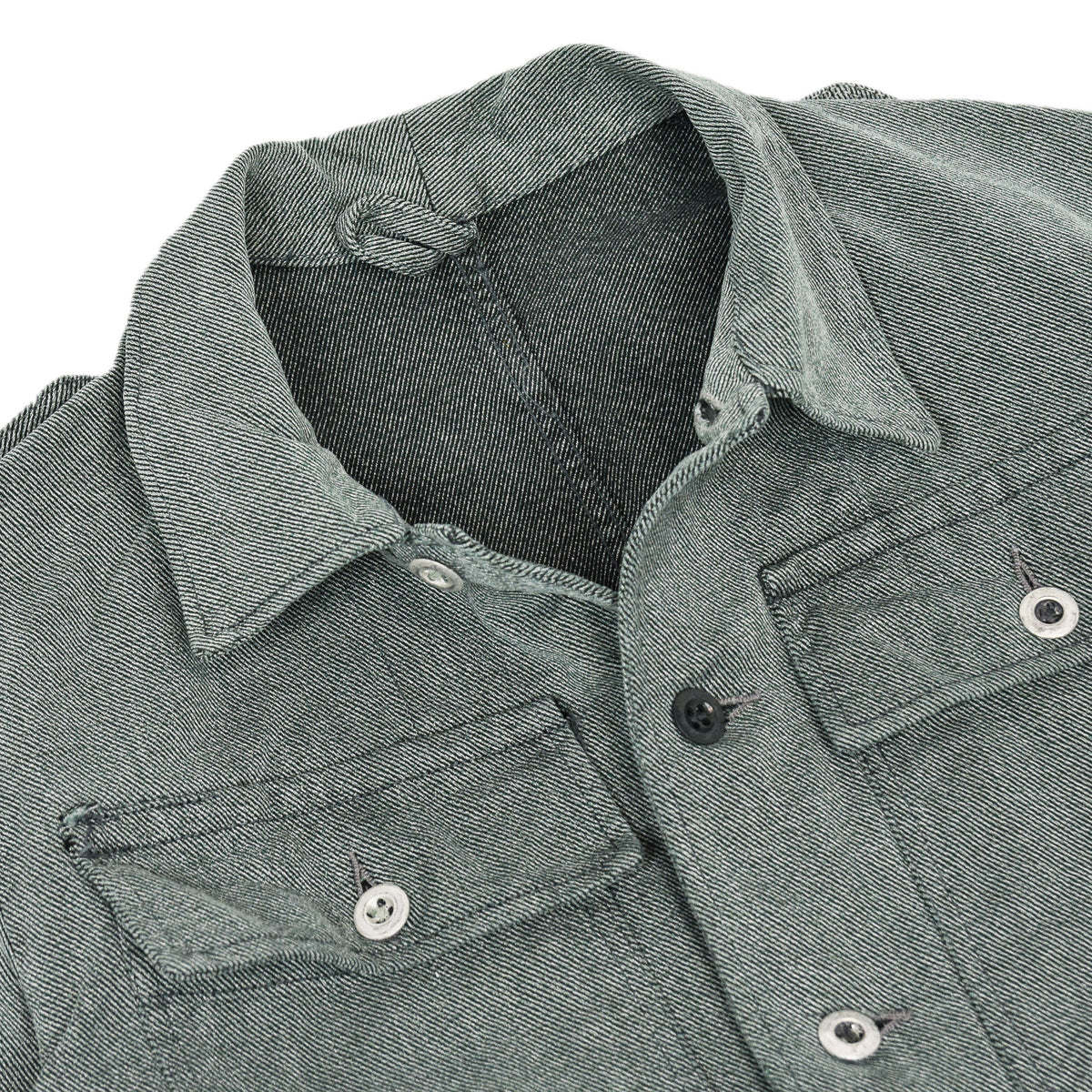 Vintage 60s Swiss Army Salt & Pepper Denim Worker Chore Jacket S