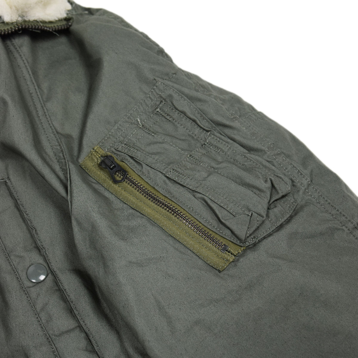 Vintage Deadstock 80s USAF N-3B Extreme Cold Weather Snorkel Parka M Oversized arm pocket