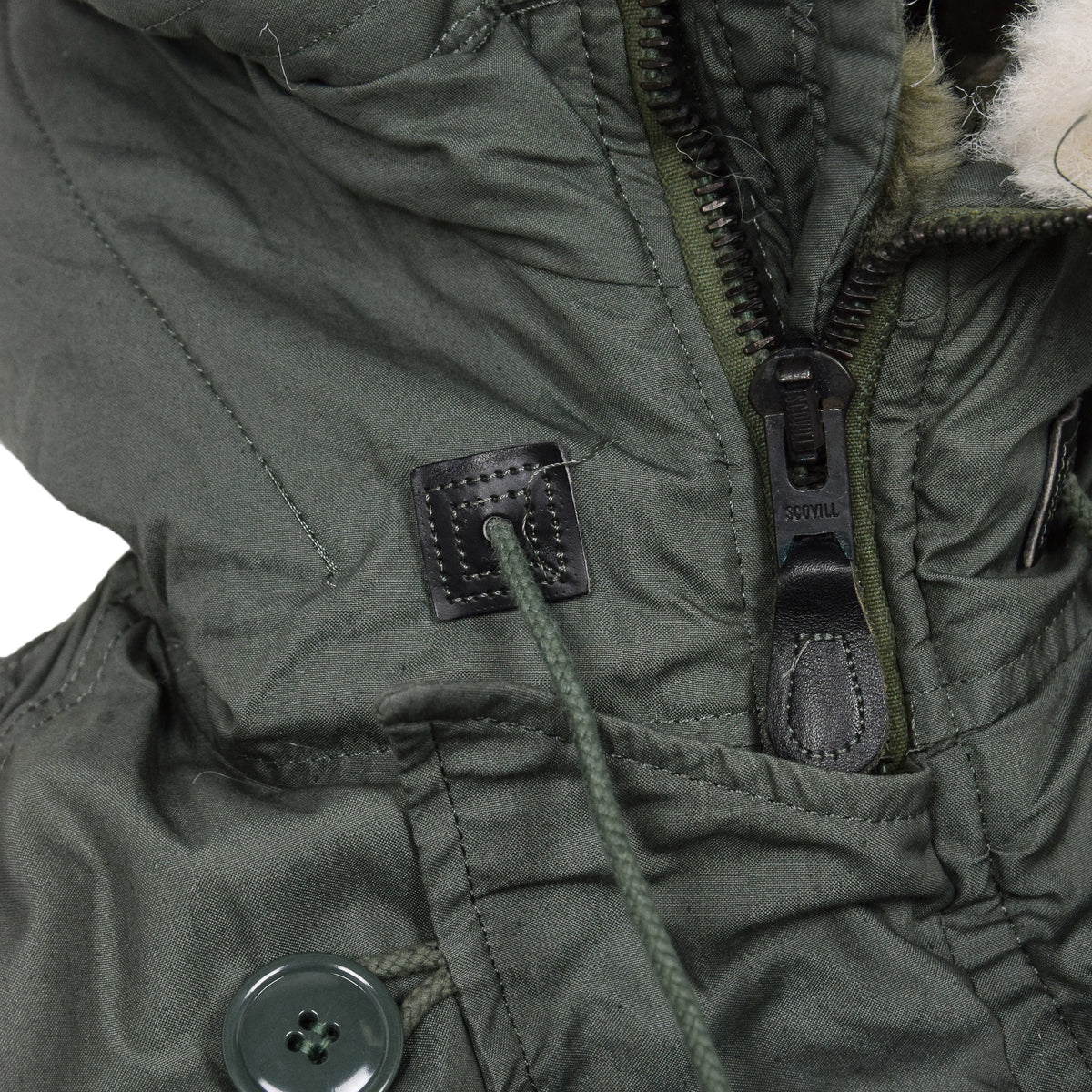 Vintage Deadstock 80s USAF N-3B Extreme Cold Weather Snorkel Parka M Oversized neck detail