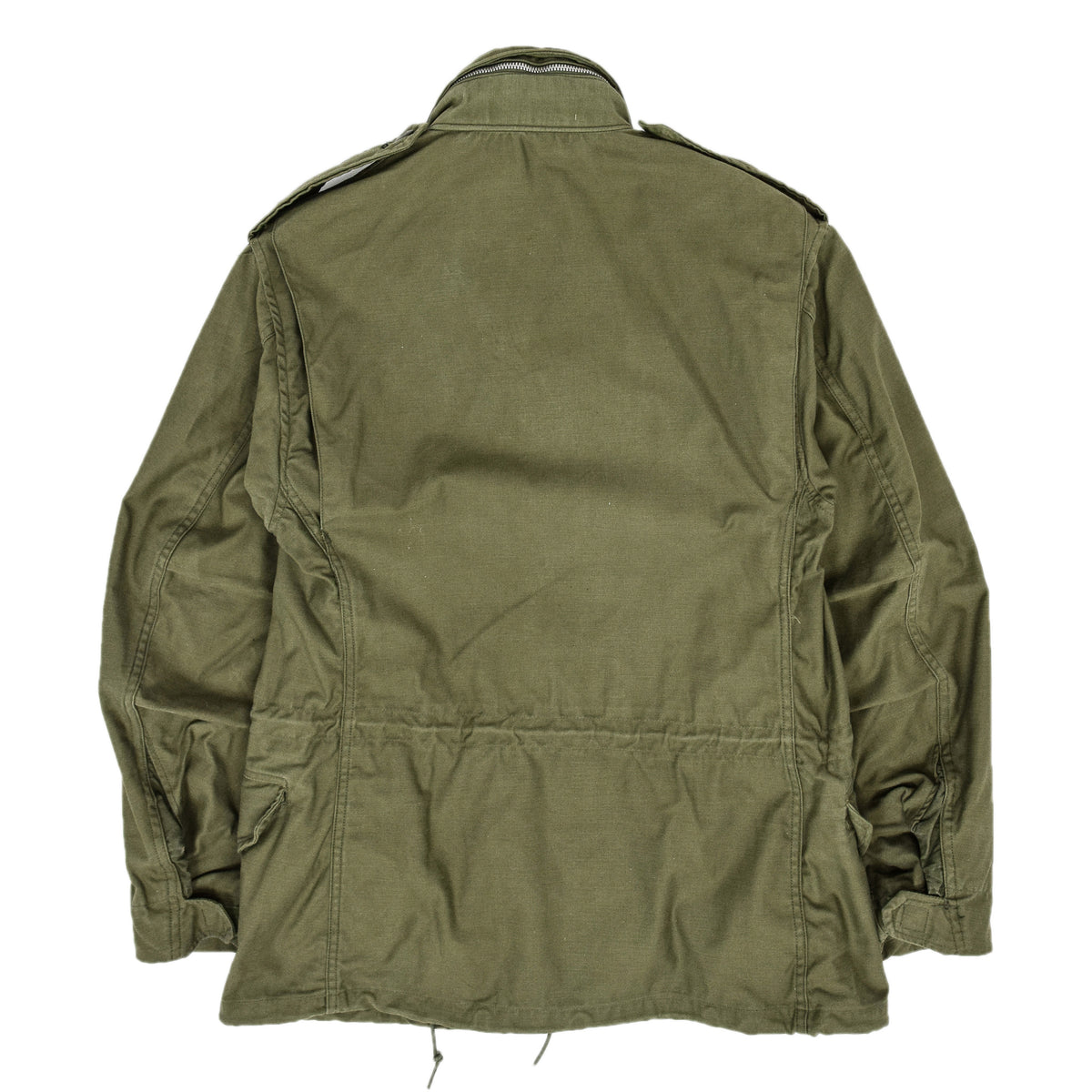 Vintage 70s Alpha Industries Vietnam M-65 Man's Field Military Jacket Green S Short back