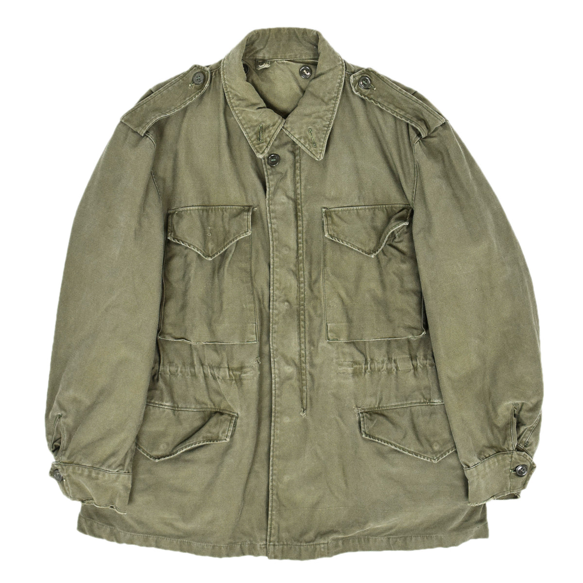 Vintage 50s M-1951 Korean War US Army Field Jacket OG-107 Olive Green M front