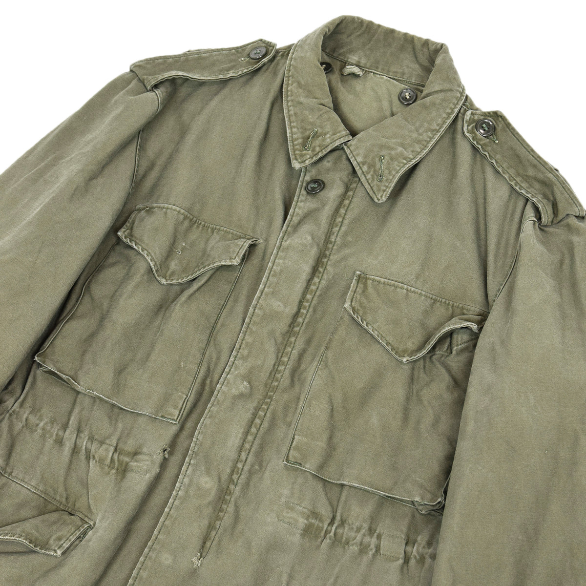 Vintage 50s M-1951 Korean War US Army Field Jacket OG-107 Olive Green M chest